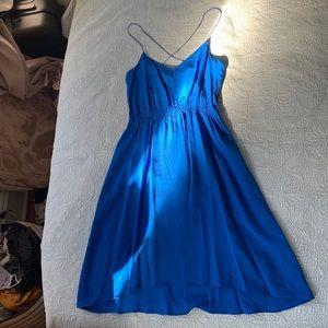 Geren Ford Blue Silk Dress
